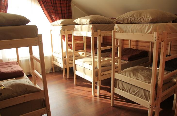 Двухъярусная кровать для хостела