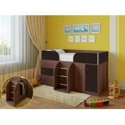Кровать чердак Астра 5 дуб шамони/венге