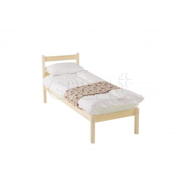 Односпальная одноярусная кровать 90х200 Green Mebel