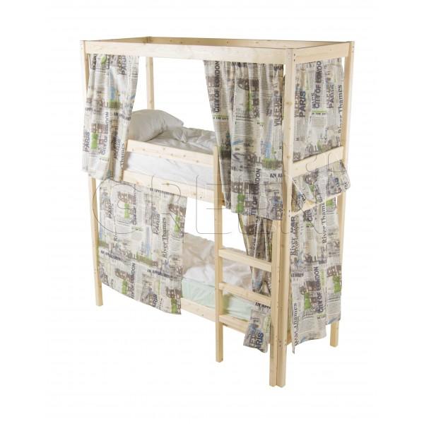 Купить Двухъярусная Кровать С Каркасом Для Штор 90Х200
