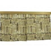 Комплект штор на 1 кровать с принтом Газета