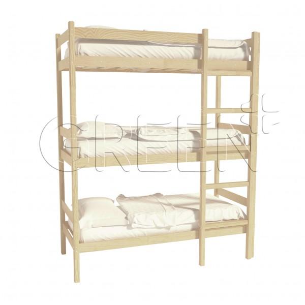 Трехъярусная кровать 90х200 Mebel Green
