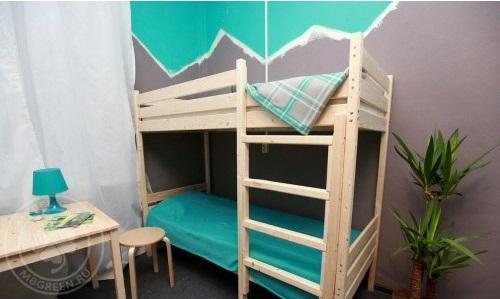 купить двухъярусную кровать из массива